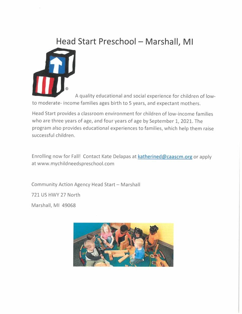 flyer for preschool