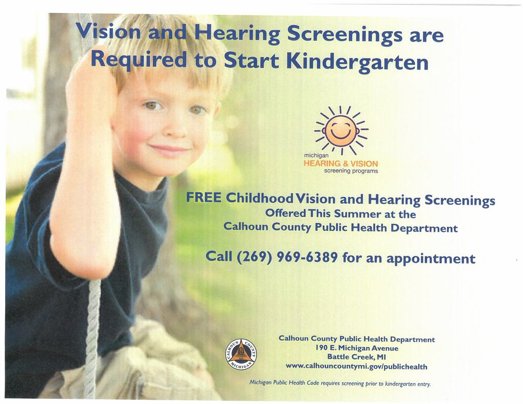 Calhoun County Public Health Dept flyer